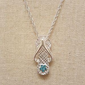 Jewelry - December Birthstone Flip Flop Necklace